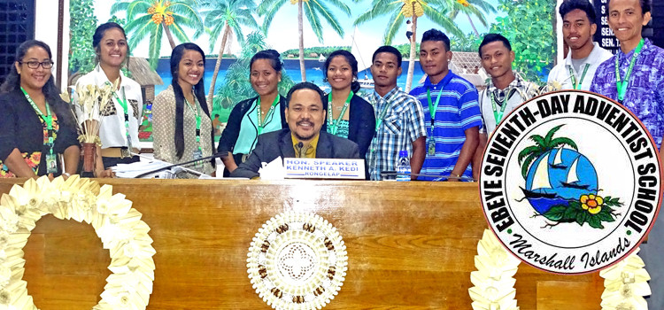 """Ebeye students get """"red carpet"""" treatment"""