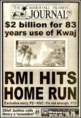 $2 billion for Kwajalein use