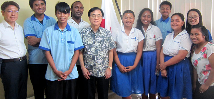 Majuro students to Japan