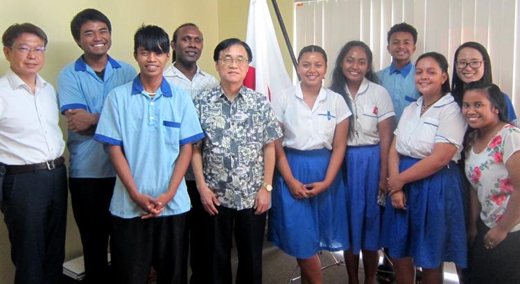 Majuro students to Japan