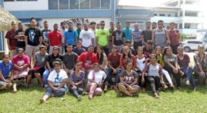 Marshallese Job Corps students from the Waimanalo and Maui campuses joined with National Training Council staff during a day-long gathering at CMI last week. Photo: Kelly Lorennij.