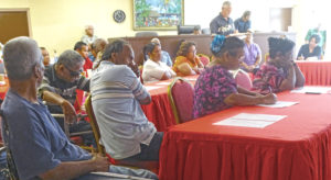 """About 50 people turned out for an """"access to justice"""" workshop sponsored by the Marshall Islands courts with support of the Pacific Judicial Strengthening Initiative. Photo: Kelly Lorennij."""