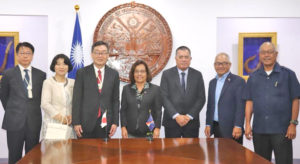 Marshall Islands President Hilda Heine and Cabinet members welcomed new Japan Ambassador Norio Saito and his wife Atsuko to the Marshall Islands.
