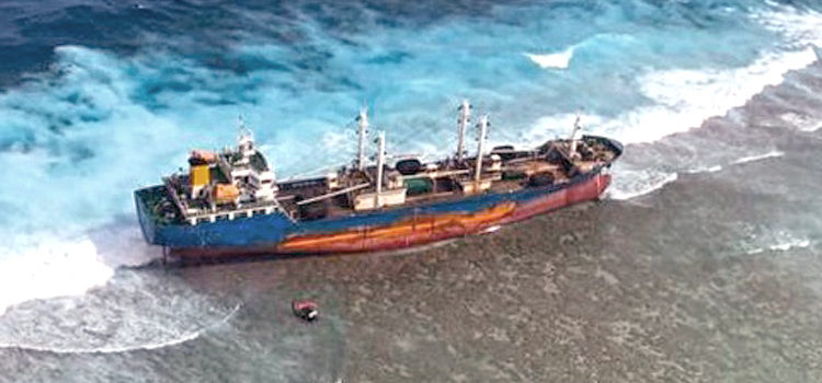 Worry for damage from grounded vessel